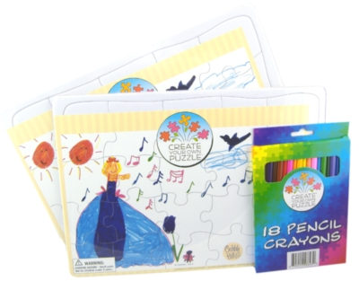 Cobble Hill Children's Puzzles - Create Your Own With Pencil Crayons