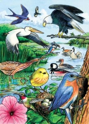 Cobble Hill Children's Puzzles - North American Birds