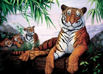 Tiger Family - 20pc Tray Puzzle by Cobble Hill
