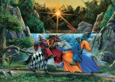 Cobble Hill Children's Puzzles - Sir Lancelot Meets Sir Tarquine