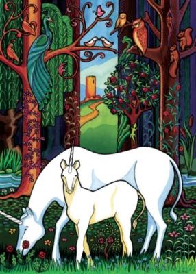 Cobble Hill Children's Puzzles - Unicorn Forest