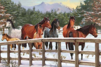 Cobble Hill Children's Puzzles - Snowy Pasture