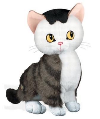 """Little Golden Book: The Shy Little Kitten - 6.5"""" Cat"""