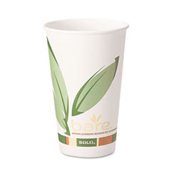Solo Bare - EcoFriendly Recycled PCF Paper Hot Cup, 16oz, 316RC-J8484, 1000/cs