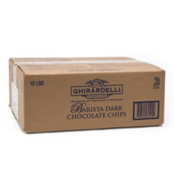 Ghirardelli Barista Dark Chocolate Mini Chips - 10lb box