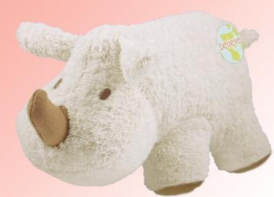 "Organic 8"" Rhino (Believe) - Made w/ Organic Terrycloth & All Natural Fill"