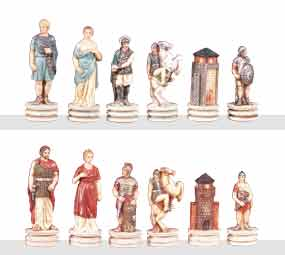 Chess Pieces - Battle of Troy