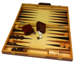 "Games - 18"" Burlwood Backgammon"