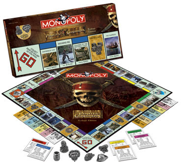 Monopoly: Pirates of Caribbean Trilogy Edition - Board Game