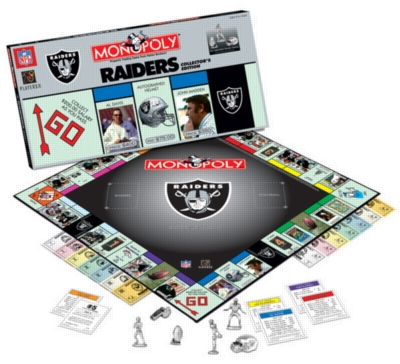 Monopoly: Oakland Raiders Edition - Board Game