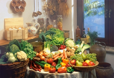 Fruits & Vegetables - 1000pc Jigsaw Puzzle by Castorland