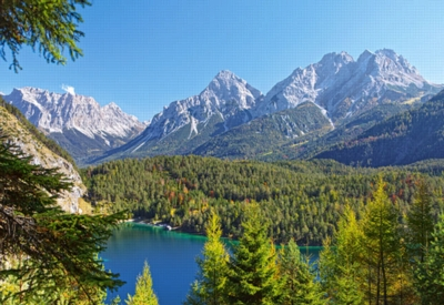 Hard Jigsaw Puzzles - Lake in the Alps, Austria