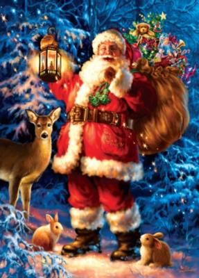 Holiday Book Box: Woodland Santa - 1000pc Jigsaw Puzzle by Masterpieces