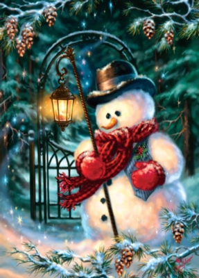 Holiday Book Box: Christmas Snowman - 1000pc Jigsaw Puzzle by Masterpieces