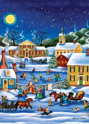 Holiday Book Box: Santa's Coming to Town - 1000pc Jigsaw Puzzle by Masterpieces