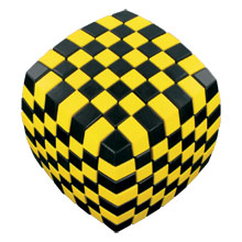 Puzzle Cubes - V-Cube 7 Illusion (Black & Yellow)