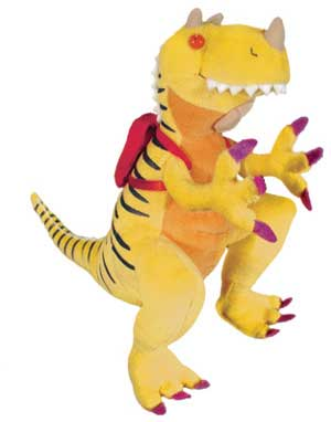 """How Do Dinosaurs Go To School? - 12"""" Dinosaur by MerryMakers"""