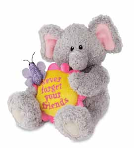 "Never Forget Your Friends - 4.5"" Elephant by Gund"