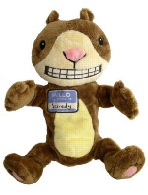 """Scaredy Squirrel - 12"""" Squirrel Puppet by MerryMakers"""