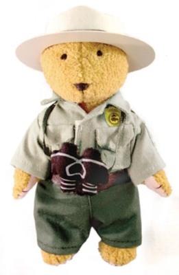 "Park Ranger Bear - 6.5"" Bear by MerryMakers"