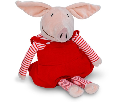 Olivia (Plush / Pillow / Blanket) - Pig by Zoobie Pets
