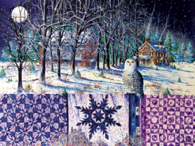 Large Format Jigsaw Puzzles - Snowy Indigo Evening