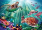 Turtle Voyage - 500+pc Large Format Jigsaw Puzzle By Sunsout