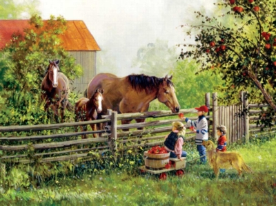 Horse Puzzles - Treat Friends