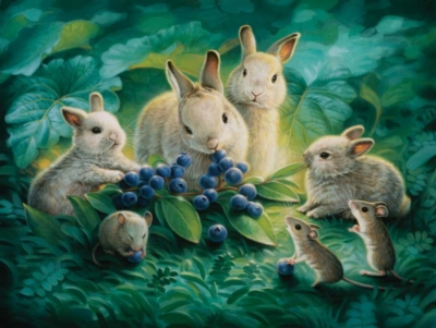 Large Format Jigsaw Puzzles - Blueberry Lunch