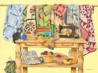 The Quilting Table - 500pc Jigsaw Puzzle By Sunsout