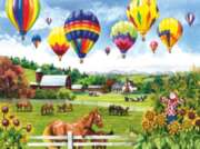 Horse Puzzles - Balloons over Fields