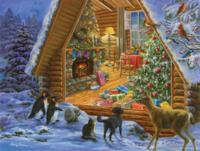 Christmas Puzzles - Looking In - Large