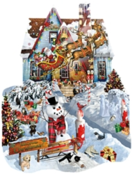 Shaped Jigsaw Puzzles - Christmas at Our House