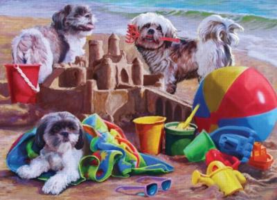 Cobble Hill Jigsaw Puzzles - Beach Puppies