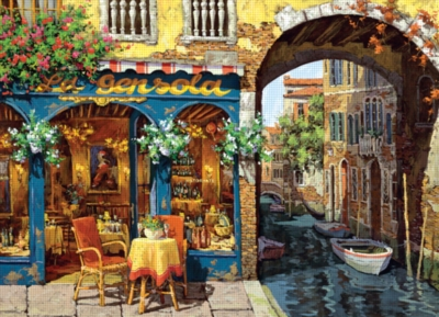 Cobble Hill Jigsaw Puzzles - Café on the Canal