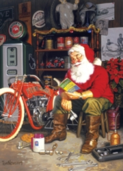 Cobble Hill Jigsaw Puzzles - Santa's Flying Merkel