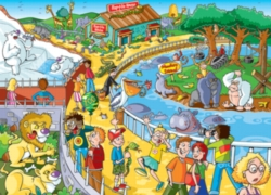 Cobble Hill Children's Puzzles - Find the Difference: A Trip to the Zoo