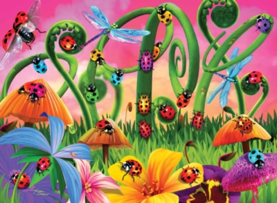 Spring Puzzles - Lady Bug Land