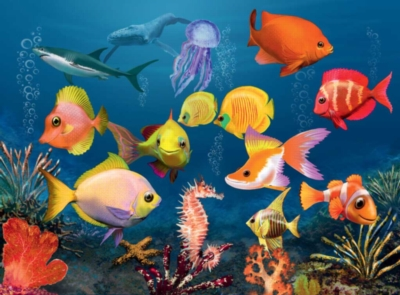 Chromadepth Jigsaw Puzzles - Fascinating Underwater World