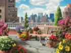 Rooftop Garden - 500pc Large Format Jigsaw Puzzle By Ravensburger