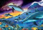 Splendid Dolphins - 1000pc Glow-in-the-Dark Jigsaw Puzzle By Ravensburger