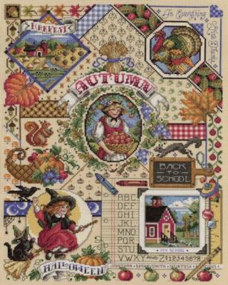 Autumn Cross Stitch - 1000pc Jigsaw Puzzle By White Mountain