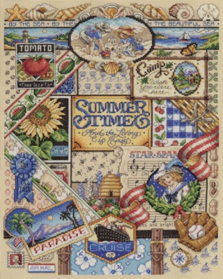 Summer Cross Stitch - 1000pc Jigsaw Puzzle By White Mountain