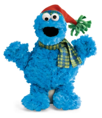Holiday Cookie Monster - 9.5'' Sesame Street by Gund