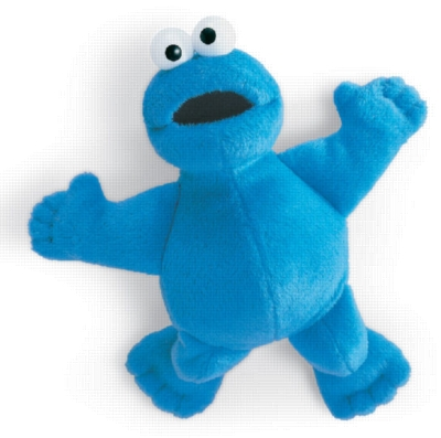 "Magnatudes Cookie Monster - 8.5"" Sesame Street by Gund"