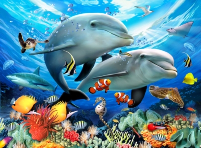 Animal Planet™ - Underwater - 300pc Large Format Jigsaw Puzzle By Ravensburger