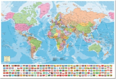 Educa Jigsaw Puzzles - World Map with Flags