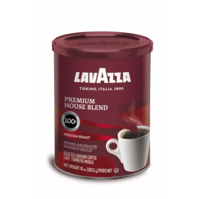 Lavazza Premium House Blend - 10 oz Ground Coffee Can