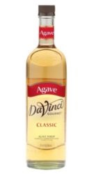 Davinci Gourmet Sweetener: Agave - 750ml Glass Bottle Case