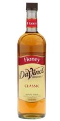 Davinci Gourmet Sweetener: Honey - 750ml Glass Bottle Case